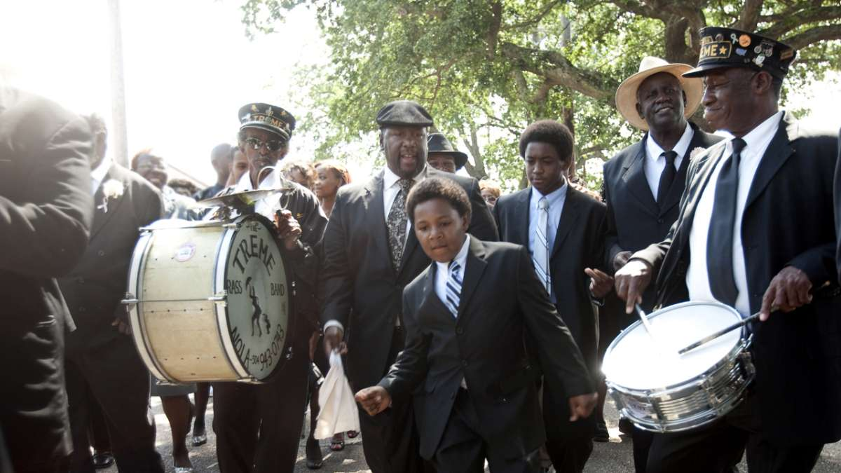 Antoine Batiste and sons in second line