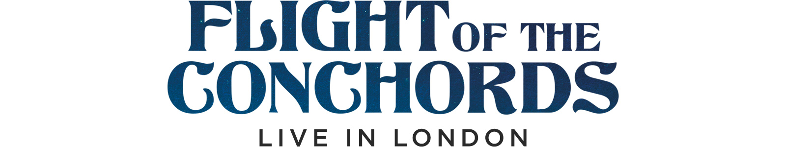 flight of the conchords live in london logo